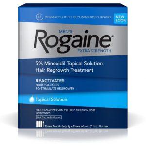 Rogaine extra strength 3x60ml provvista 3 mesi trattamento anticaduta ricrescita capelli